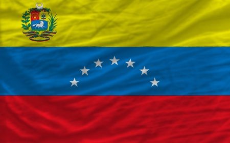 complete national flag of venezuela covers whole frame, waved, crunched and very natural looking. It is perfect for background photo