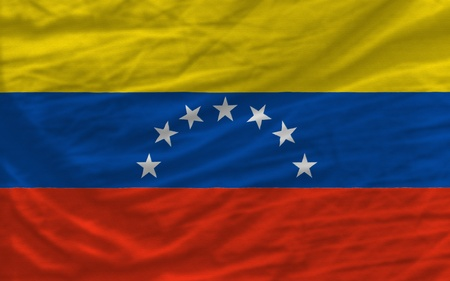 piktogramm: complete national flag of venezuela covers whole frame, waved, crunched and very natural looking. It is perfect for background