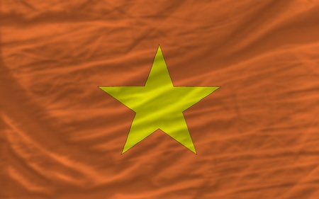 piktogramm: complete national flag of vietnam covers whole frame, waved, crunched and very natural looking. It is perfect for background
