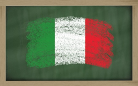 chalky: Chalky national flag of italy  painted with color chalk on blackboard illustration