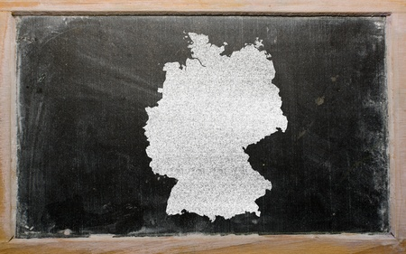 chalky: drawing of hungary on germany, drawn by chalk