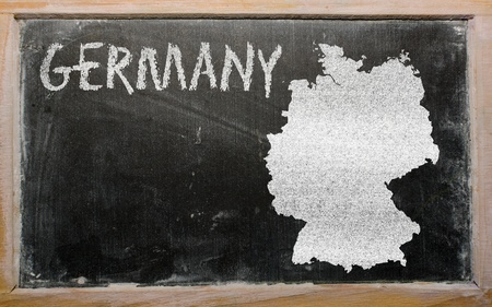 drawing of hungary on germany, drawn by chalk