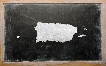 puertorico: drawing of puerto rico on blackboard, drawn by chalk
