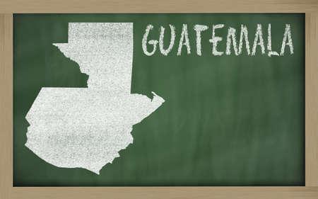 drawing of guatemala on blackboard, drawn by chalk Reklamní fotografie