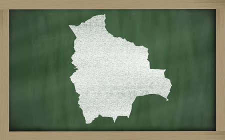 drawing of bolivia on blackboard, drawn by chalk