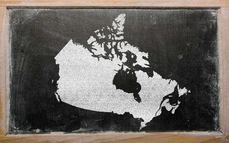 tekening van canada op het bord getekend door krijt Stockfoto