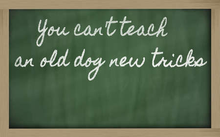 can't: handwriting blackboard writings - You cant teach an old dog new tricks