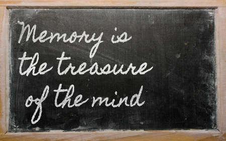 手書きの黒板の執筆 - メモリは心の宝