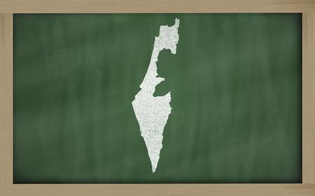 drawing of israel on blackboard, drawn by chalk Stock Photo - 12981500