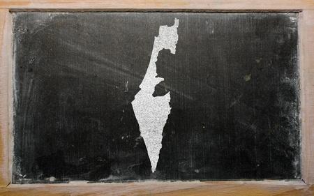 drawing of israel on blackboard, drawn by chalk Stock Photo - 12981330