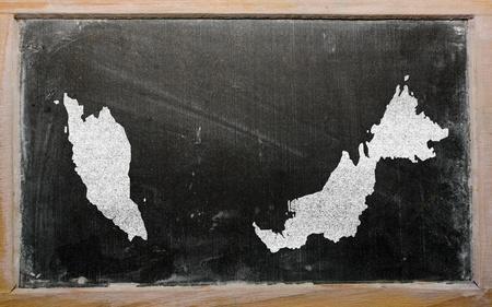 drawing of malaysia on blackboard, drawn by chalk Stock Photo - 12981276