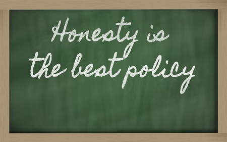 handwriting blackboard writings - Honesty is the best policy Stock Photo - 12981438