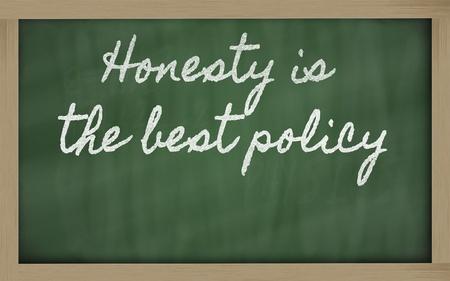 handwriting blackboard writings - Honesty is the best policy Stock Photo - 12981438