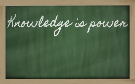 handwriting blackboard writings - Knowledge is power