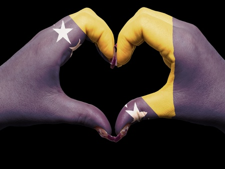 Gesture made by bosnia herzegovina flag colored hands showing symbol of heart and love Stock Photo - 13038713