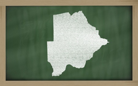 botswanan: drawing of botswana on blackboard, drawn by chalk