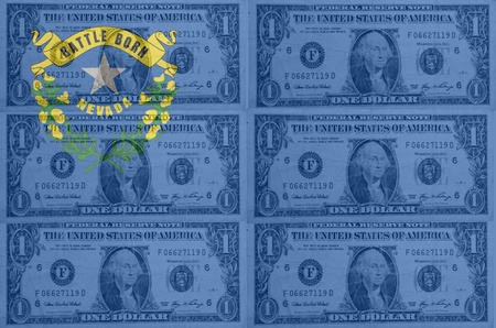transparent united states of america state flag of nevada with dollar currency in background symbolizing political, economical and social government photo