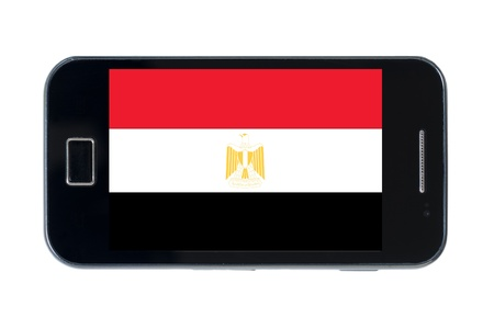 bandera nacional de Egipto inteligente en wihte Foto de archivo - 18414355
