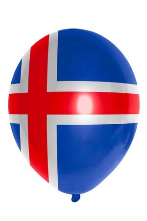 the icelandic flag: national flag of iceland balloon Stock Photo