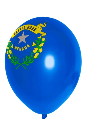 flag of us state of nevada balloon photo