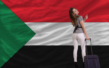 young beautiful woman is traveling to sudan