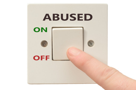 abused: Turning off Abused with finger on electrical switch