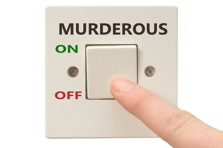 turning off: Turning off Murderous with finger on electrical switch