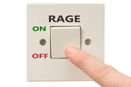 rage: Turning off Rage with finger on electrical switch