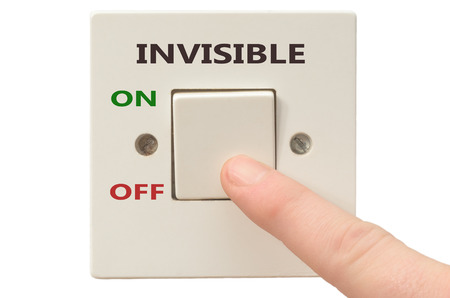 invisible: Turning off Invisible with finger on electrical switch