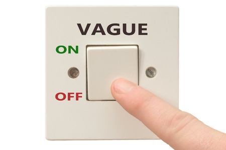 vague: Turning off Vague with finger on electrical switch