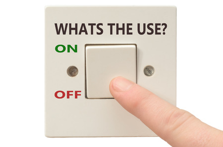 turning off: Turning off Whats the use with finger on electrical switch