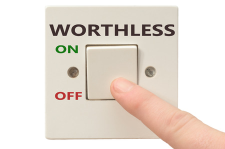 apathy: Turning off Worthless with finger on electrical switch