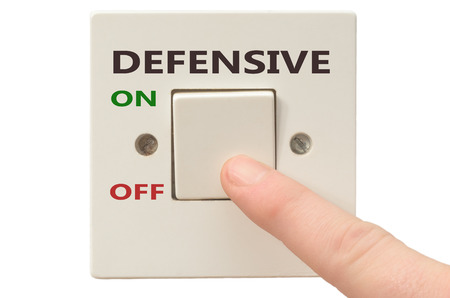 defensive: Turning off Defensive with finger on electrical switch