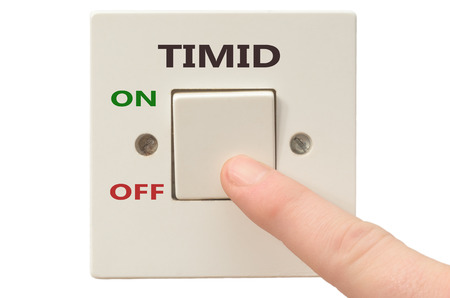 timid: Turning off Timid with finger on electrical switch