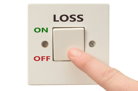 turning off: Turning off Loss with finger on electrical switch