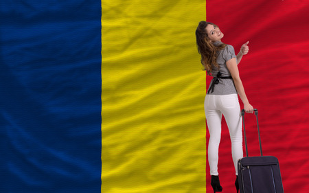 chadian: young beautiful woman is traveling to chad