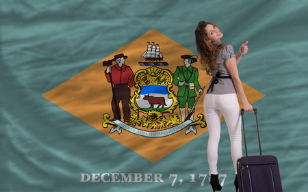 delaware: young beautiful woman is traveling to delaware