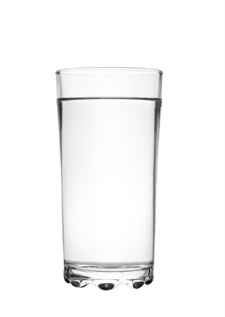 full glass of water isolated on white  photo