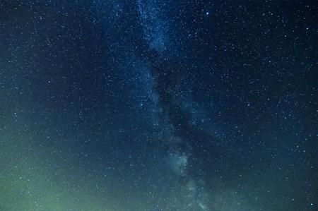 melkachtig: Melkweg op nachtelijke hemel, abstracte natuurlijke Stockfoto