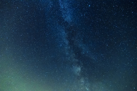 milky way on night sky, abstract natural  photo
