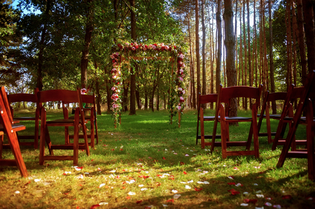 archways: wedding arch decorated with flowers