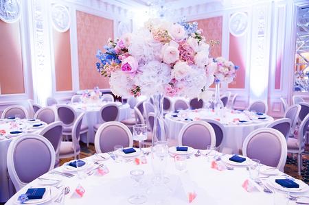 decoraciones de la boda con las flores