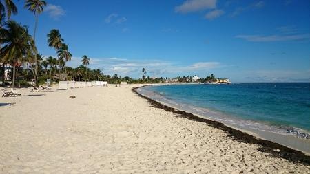 caribe: Empty beach bay Stock Photo