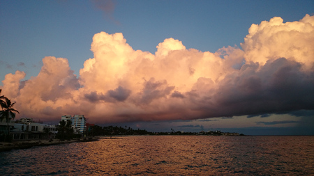 caribe: Wonderful sunrise over the sea Stock Photo