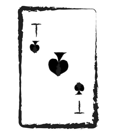 Ace of cards from a card deck