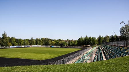 View of the big stadium, a clear summer day, sport