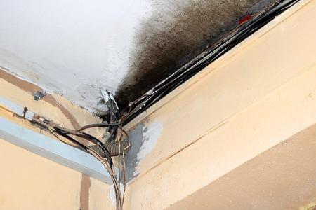 Burnt electrical fire, violation of fire safety regulations Reklamní fotografie