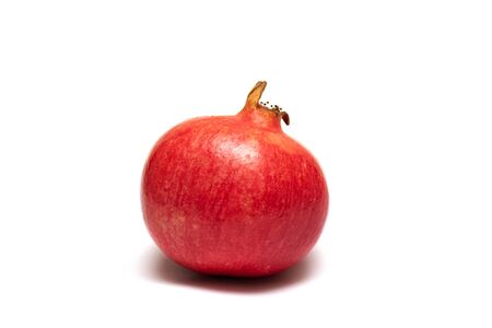 Red pomegranate isolated on a white background 写真素材