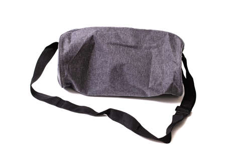 Gray travel bag isolated on a white background Banque d'images