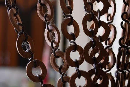 wooden decoration with a layer of dust closeup